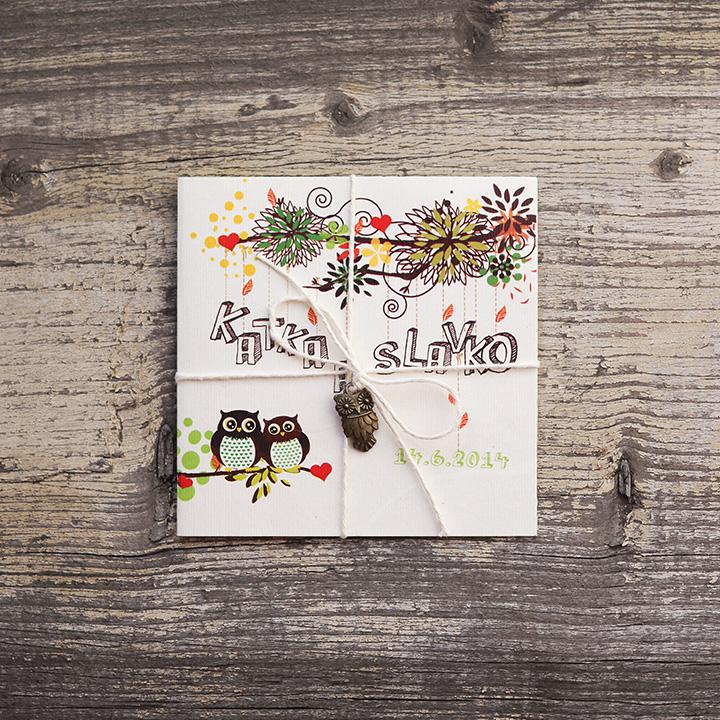 Bubovci (vintage svadobné oznámenie 10 x 10 cm)