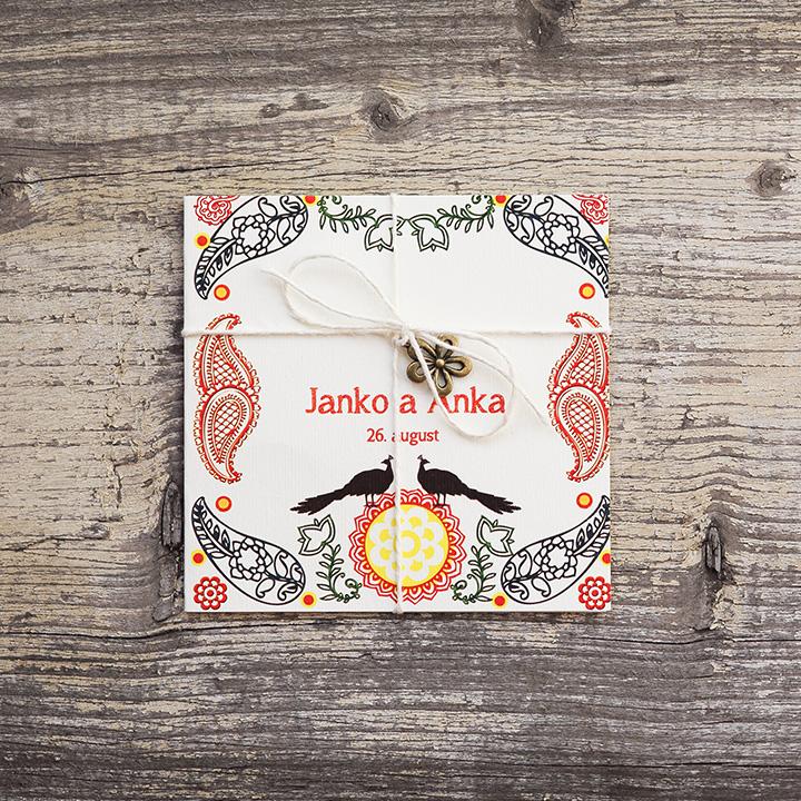 FolkLOVE (vintage svadobné oznámenie 10 x 10 cm)