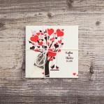 Love Tree (vintage svadobné oznámenie 10 x 10 cm)