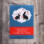 Bunnies (vintage svadobné oznámenie A6)