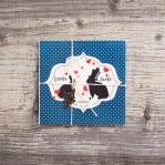 Bunny Love (vintage svadobné oznámenie 10 x 10 cm)