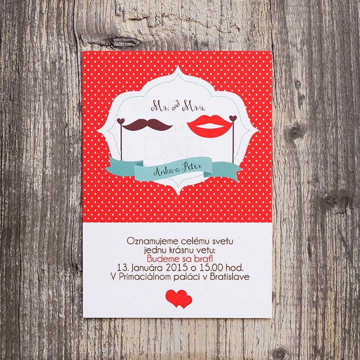 Getting Married (vintage svadobné oznámenie A6)