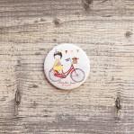 Odznačik Nevestin team - bicyklistky (svadobné doplnky)