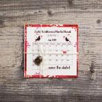 Save the Date (vintage svadobné oznámenie 10 x 10 cm)
