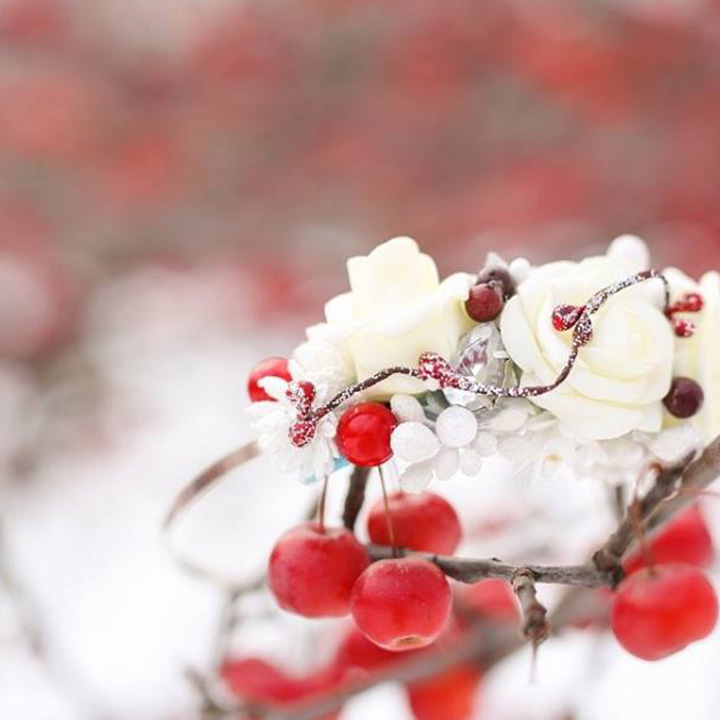 Winter Queen (kvetinová čelenka)