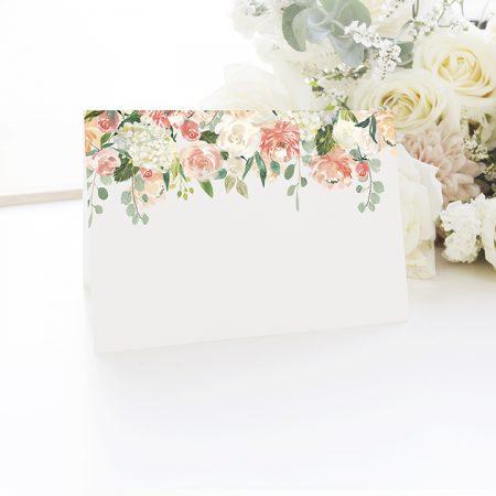 Čistá menovka Flowers