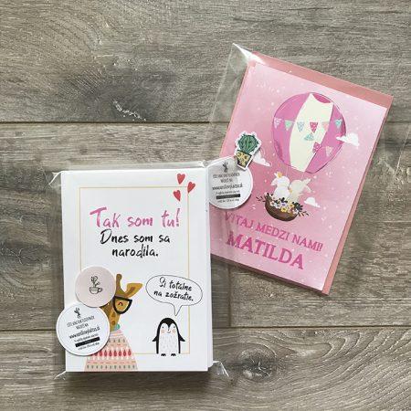 Set Míľnikové kartičky + Pohľadnica
