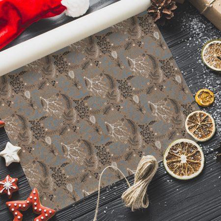 Vianočný baliaci papier  - Nature
