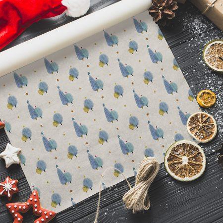 Vianočný baliaci papier  - Stromčeky