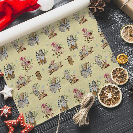Vianočný baliaci papier  - Elfovia :)