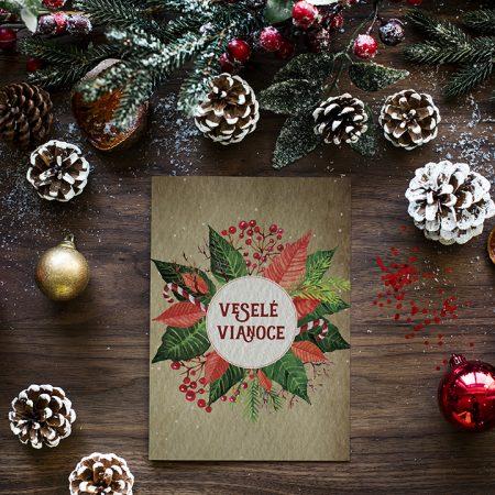 Pohľadnica Vianočná ruža