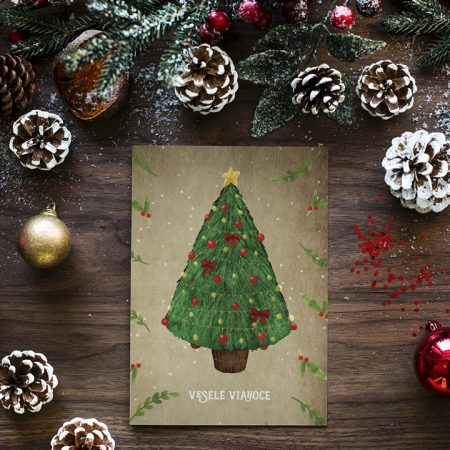 Pohľadnica Vianočný stromček