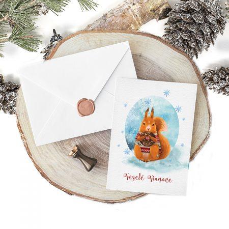 Pohľadnica Veverička