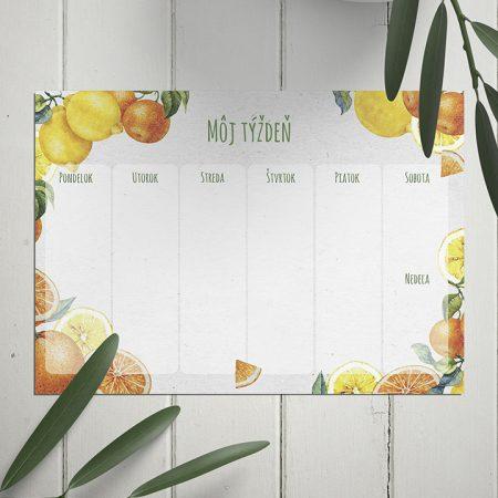 Týždenný plánovač Fresh Orange