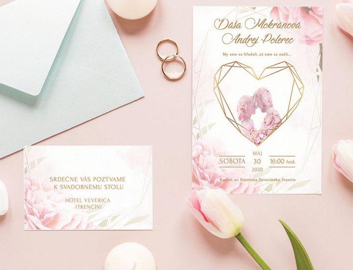 Klasické svadobné oznámenia