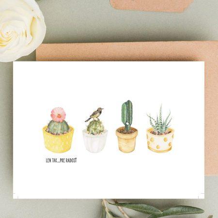 Len tak pre radosť Kaktusy